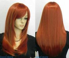 LMRA184  Sexy orange red mix  Long women's Wig wigs for women