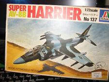 Italeri Super Av-8B Harrier Jet Fighter Plane-Free Shipping