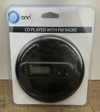 ONN Portable CD Player with FM radio, Black, Brand New Sealed ONF19AAA11