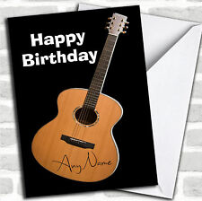 Signed Guitar Funny Birthday Customised Card