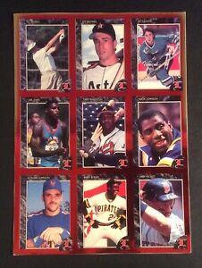 Legends Sports Magazine 1992 Uncut 9 Player Sheet Foil Cards Magic Bonds Puckett