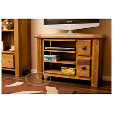 Rustic Oak TV Unit Cabinet Stand with Drawers | Living Room Furniture Dan27