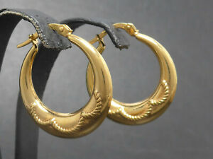Ohrringe earrings 375 GOLD Gelbgold 9 Karat boucle Kreolen Creolen Kreole