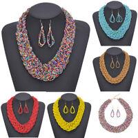 Fashion Beads Chunky Chain New Choker Bib Womens Statement Jewelry Necklace