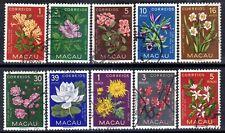Macau Macao sc#372-381 (1953) Flowers full set VF Used