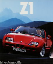 BMW Z1 Roadster Prospekt 1/89 1989 brochure Autoprospekt Broschüre broschyr Auto