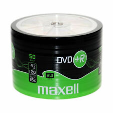 MAXELL DVD+R Blank Recordable Digital Disc DVDR 4.7GB 16x SPEED 120mins 50 Pack