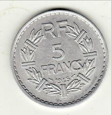 RARE SUP COTE 100 EURO 5 FRANCS ALU 1945 C