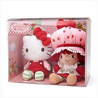 Sanrio Hello Kitty Strawberry Shortcake Stuffed Toy Set Plush Doll kawaii