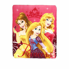 DISNEY plaid polaire PRINCESSES Belle Raiponce Aurore  120 x 140 cm NEUF