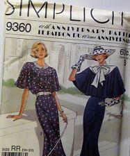 60th Anniversary SIMPLICITY 9360 DRESS CAPELET Size 14-20 Uncut
