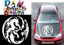 "25"" ying yang dragon vinyl decal sticker car hood door wall jdm racing skyrim"