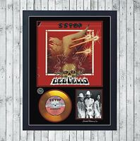 ZZ TOP DEGÜELLO CUADRO CON GOLD O PLATINUM CD EDICION LIMITADA. FRAMED