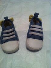 Baby Bootie Shoes 0-3 Months Yellow Bow Trainer Style (B33)