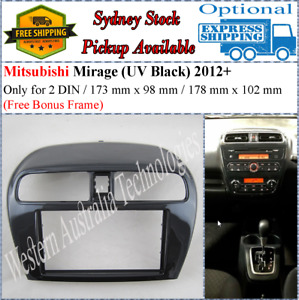 Fascia facia Fits Mitsubishi Mirage 2012+ Double Two 2 DIN Dash Kit