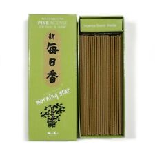 Japanese Nippon Kodo Morning Star Pine Incense 200 Sticks and Incense Holder