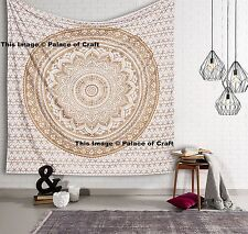 Indian King Size Tapestry Bedspread Wall Hanging Ombre Mandala Bed Sheet Ethnic