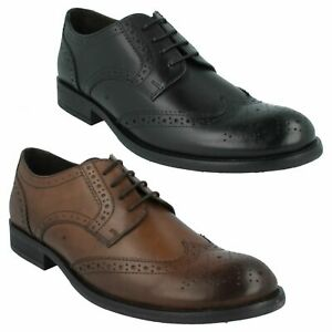 OAK MTO MENS BASE LONDON SMART LACE UP WAXY LEATHER FORMAL BROGUE SHOES