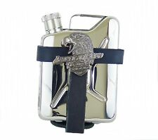 Belt Bag Made of Leather with Flachmann Hip Flask Canister Stainless Steel