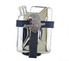 Gürteltasche aus Leder mit Flachmann Taschenflasche Kanister Edelstahl American