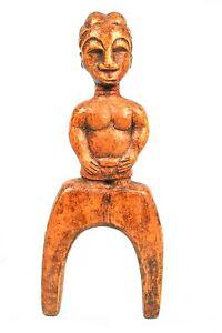 Art Africain Premier Primitif - Ancien Lance Pierre Fronde Slingshot Baoulé ++++