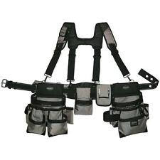 Gray Tool-Belt Construction Suspender Strap Holster Pocket Pouch Bag Framer-Rig