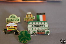 6 x Kilkenny Irish Beer  Double Decker Bus and 5 others Enamel.pin badge