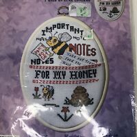 Bucilla Counted Cross Stitch Kit Dont Forget With Frame Notes For My Honey