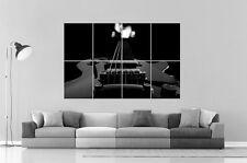 GUITARE ELECTRIQUE ELECTRIC GUITAR B&W Poster Grand format A0 Large Print