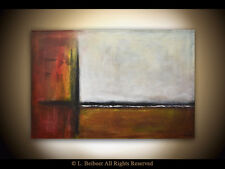 ABSTRACT PAINTING 36 x 24 LARGE ORIGINAL CONTEMPORARY MINIMALIST ART  L. Beiboer