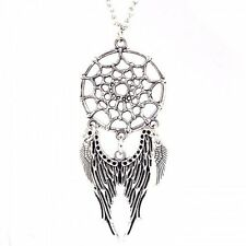 Chic Women Dream Catcher Necklace Pendant Angel Wing Eagle Bead Choker Jewelry