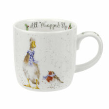 Royal Worcester Wrendale Designs 2017 Christmas mugs All Wrapped Up Duck & Robin