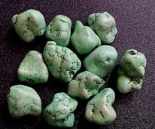 Lot (12) Navajo Turquoise Nuggets  6.2 oz- 174 gm Sea Green Beads Matrix