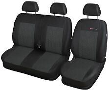 Sitzbezüge Schonbezüge SET EEE VW T4 Caravelle Stoff dunkel grau