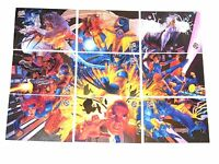 1994 X-MEN FLEER ULTRA MARVEL TEAM PORTRAIT PUZZLE 9 CARD INSERT CHASE SET