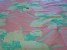 Reversibile Floreale Twill Broccato-Verde/Rosa/Crema-Abito/ABITI DA SPOSA in TESSUTO-GRATIS P&P