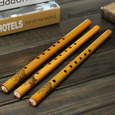 Traditional 6 Hole 33cm Long Bamboo Flute Clarinet Student Musical Instrument