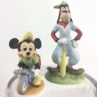 Mickey Mouse and Goofy Vintage Walt Disney Productions Ceramic Figurines