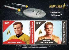 Antigua - 2017 Star Trek Captain Kirk, Mirror Mirror Souvenir Sheet - MNH