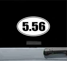 5.56 oval vinyl decal sticker gun rifle bullet ammo ar15 bolt carrier trigger