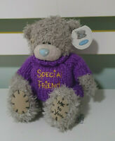ME TO YOU YOU TEDDY BEAR CARTE BLANCHE 15CM TALLSPECIAL FRIEND ON PURPLE JUMPER