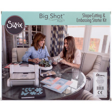 Sizzix Big Shot Plus Starter Kit Manual Die Cutting and Embossing Machine with L