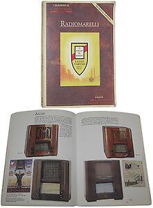 Libro RADIOMARELLI old Antique Radio valvole d'epoca Marelli Coribante Musagete
