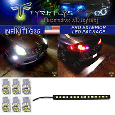 7 Piece Super Bright White Exterior LED package for 2003-2006 Infiniti G35