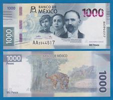 Mexico 2020 issue NEW BANKNOTE 1000 Pesos P NEW 2019 (2020) UNC 1,000 AA Prefix