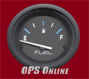 Mercury Analog Gauge Set Black - Fuel Gauge