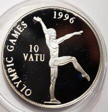VANUATU : 10 VATU ARGENT 1996 JEUX OLYMPIQUES - GYMNASTE
