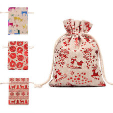 Christmas Candy Packaging Drawstring Bag Xmas Supplies Wrapping Pouch Gifts Bags