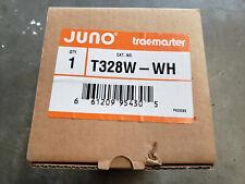Juno Lighting T328W-WH Round Back Track Head White Baffle, White Fixture