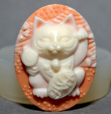 Cat Cameo Japan silicone mould Cupcake polymer clay chocolate resin fimo MOLD